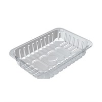 D13/55 Padded Clear Food Tray 239 X 167 X 55Mm